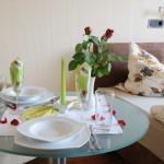 Apartement 1 Tisch Warnemünde Ferien Urlaub Ostsee