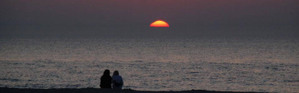 Warnemünde Ostsee Sonnenuntergang